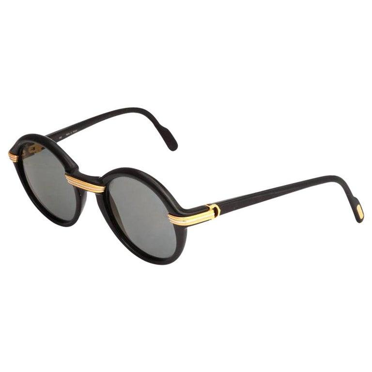 Vintage Cartier Black Cabriolet Sunglasses For Sale