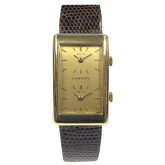 Vintage Cartier Chopard Yellow Gold Two Time Zone Mechanical Wristwatch