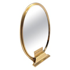 Vintage Cartier Classic Oval Table Mirror Gold-Plated, 1970