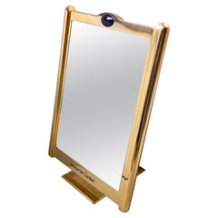 Vintage Cartier Classic Tank Pivotal Axis Table Mirror Gold-Plated, 1970