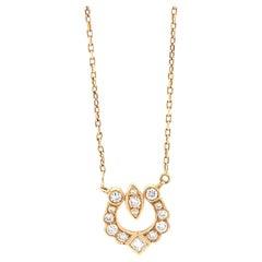 Vintage Cartier Diamond 18 Karat Gold Necklace