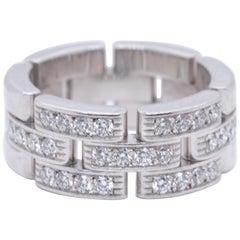 Vintage Cartier Diamond 18 Karat White Gold Ring