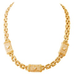 Vintage Cartier Diamond 18 Karat Yellow Gold Maillon Necklace