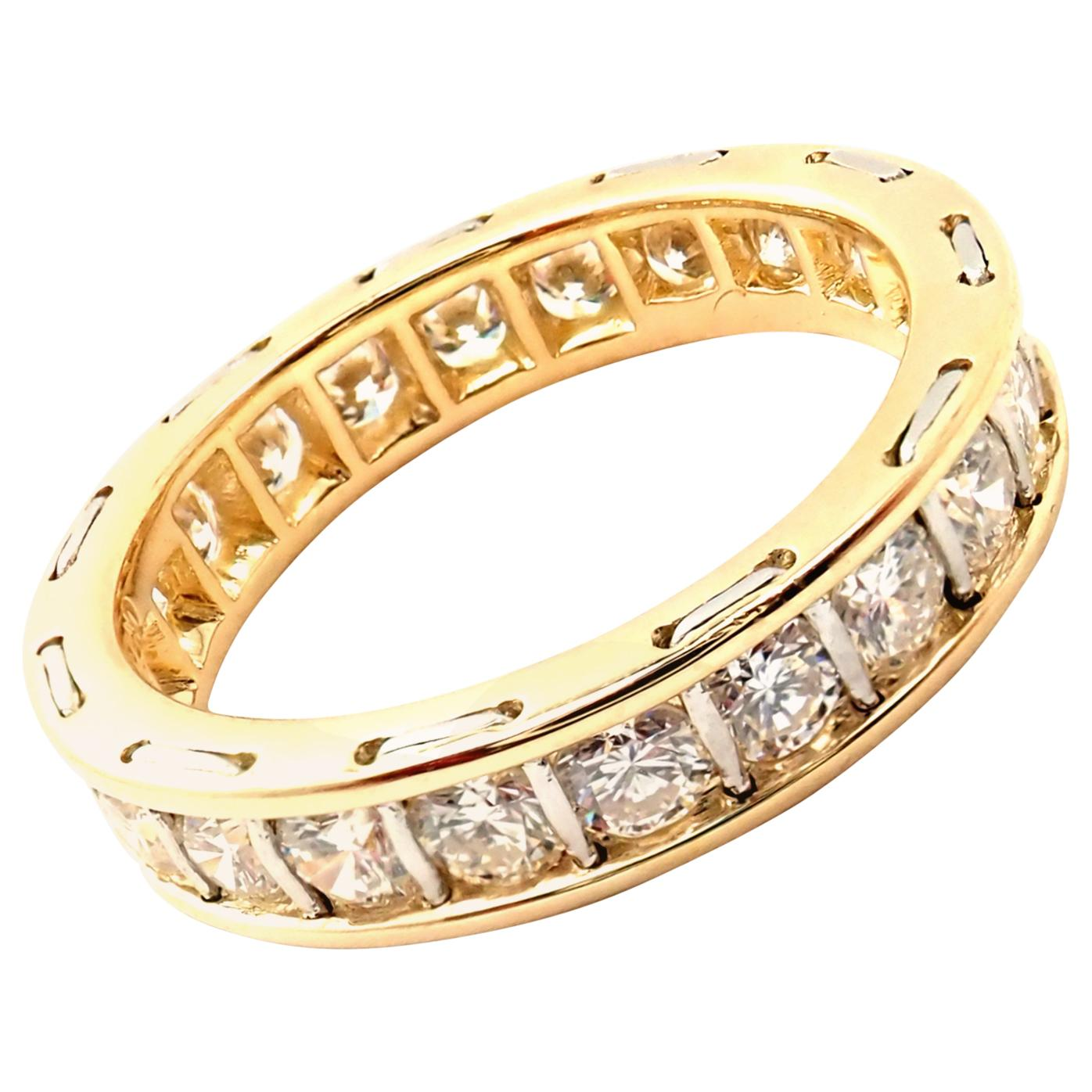 Vintage Cartier Diamond Eternity Band Yellow Gold Ring