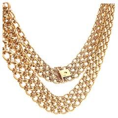 Vintage Cartier Gold Chain Link Collar 18 Karat Necklace