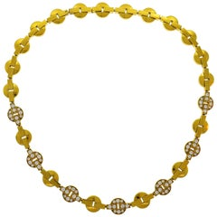 Vintage Cartier Himalia Diamond Yellow Gold Necklace