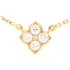 Vintage Cartier Hindu Diamond Pendant Necklace Set in 18k Yellow Gold