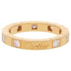 Vintage Cartier Lanières Diamond Eternity Band Ring Set in 18k Yellow Gold