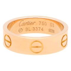 Vintage Cartier Love Ring Set in 18k Rose Gold