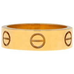 Vintage Cartier Love Ring Set in 18k Yellow Gold, with Certificate