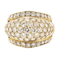 Vintage Cartier Nigeria Bombe Diamond Ring