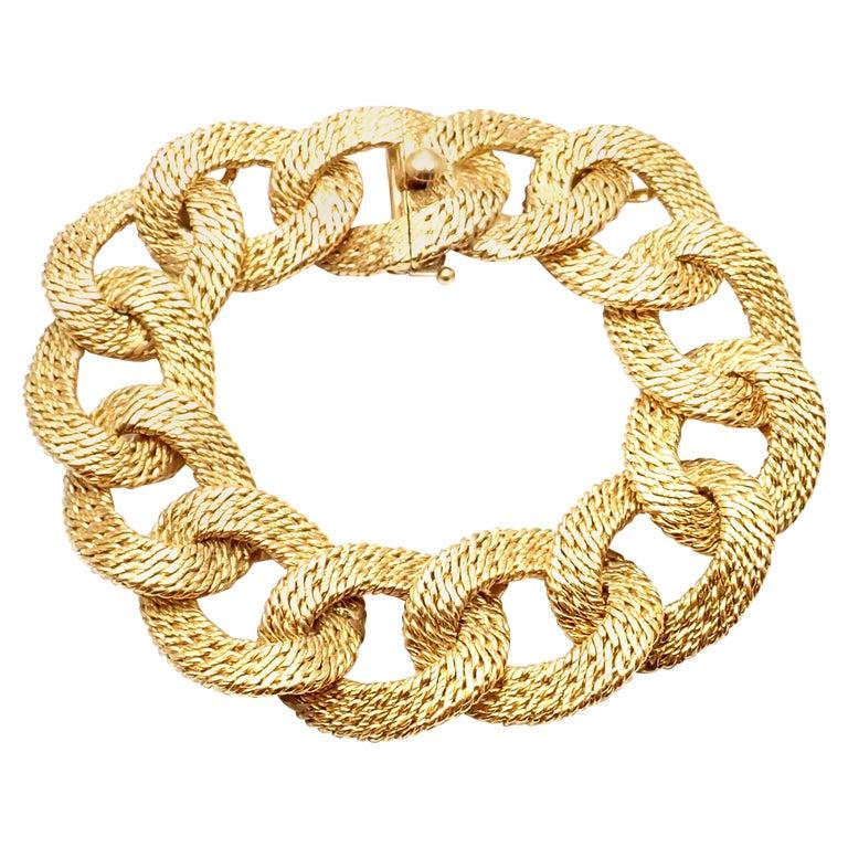 """Vintage Cartier """"Paillette"""" Link Yellow Gold Bracelet, 1963 For Sale"""