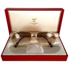 Vintage Cartier Panthere Gradient Lenses 63 Large Sunglasses France