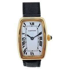 Vintage Cartier Paris Faberge' Tonneau Watch, Circa 1978-1982