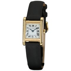 Vintage Cartier Paris Lady's Tank 18 Karat Yellow Gold Wristwatch