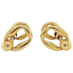 Vintage Cartier Paris Stirrup Cufflinks in 18 Karat Yellow Gold