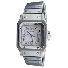 Vintage Cartier Santos Automatic Stainless Steel Wristwatch
