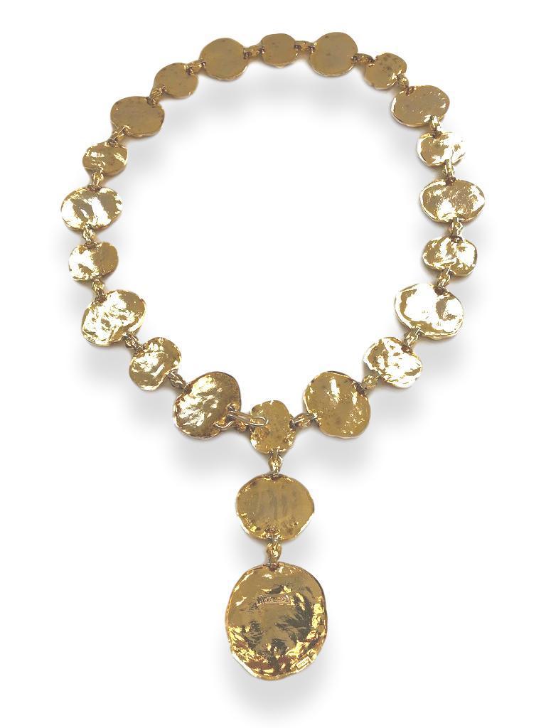 Vintage Cartier Silver-Gilt Jackie O Necklace Belt, circa 1970 In Good Condition For Sale In Cincinnati, OH