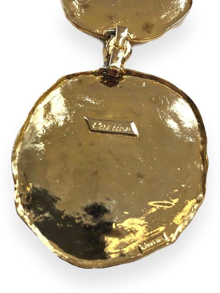 Vintage Cartier Silver-Gilt Jackie O Necklace Belt, circa 1970 For Sale 1