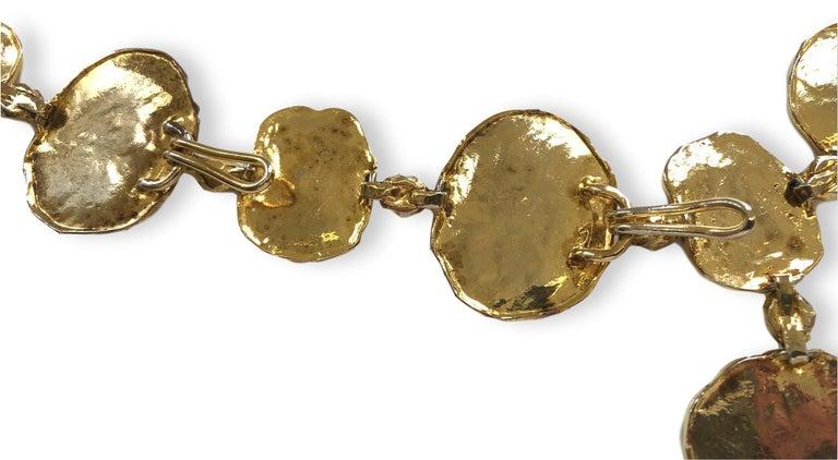 Vintage Cartier Silver-Gilt Jackie O Necklace Belt, circa 1970 For Sale 2