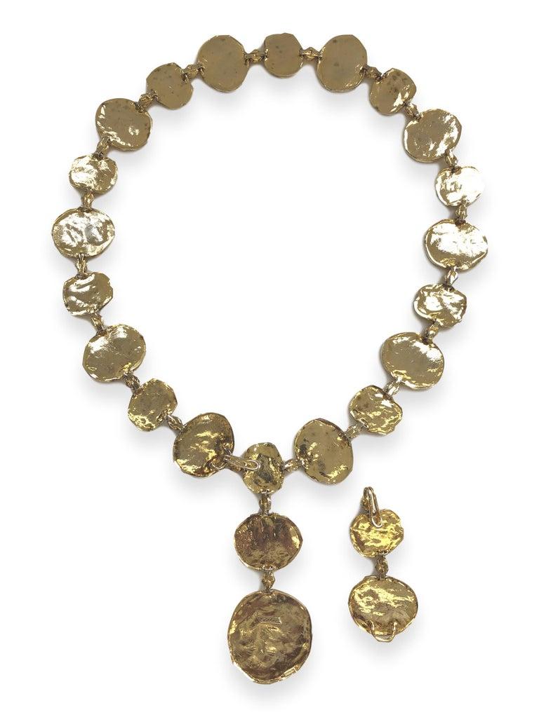 Vintage Cartier Silver-Gilt Jackie O Necklace Belt, circa 1970 For Sale 3