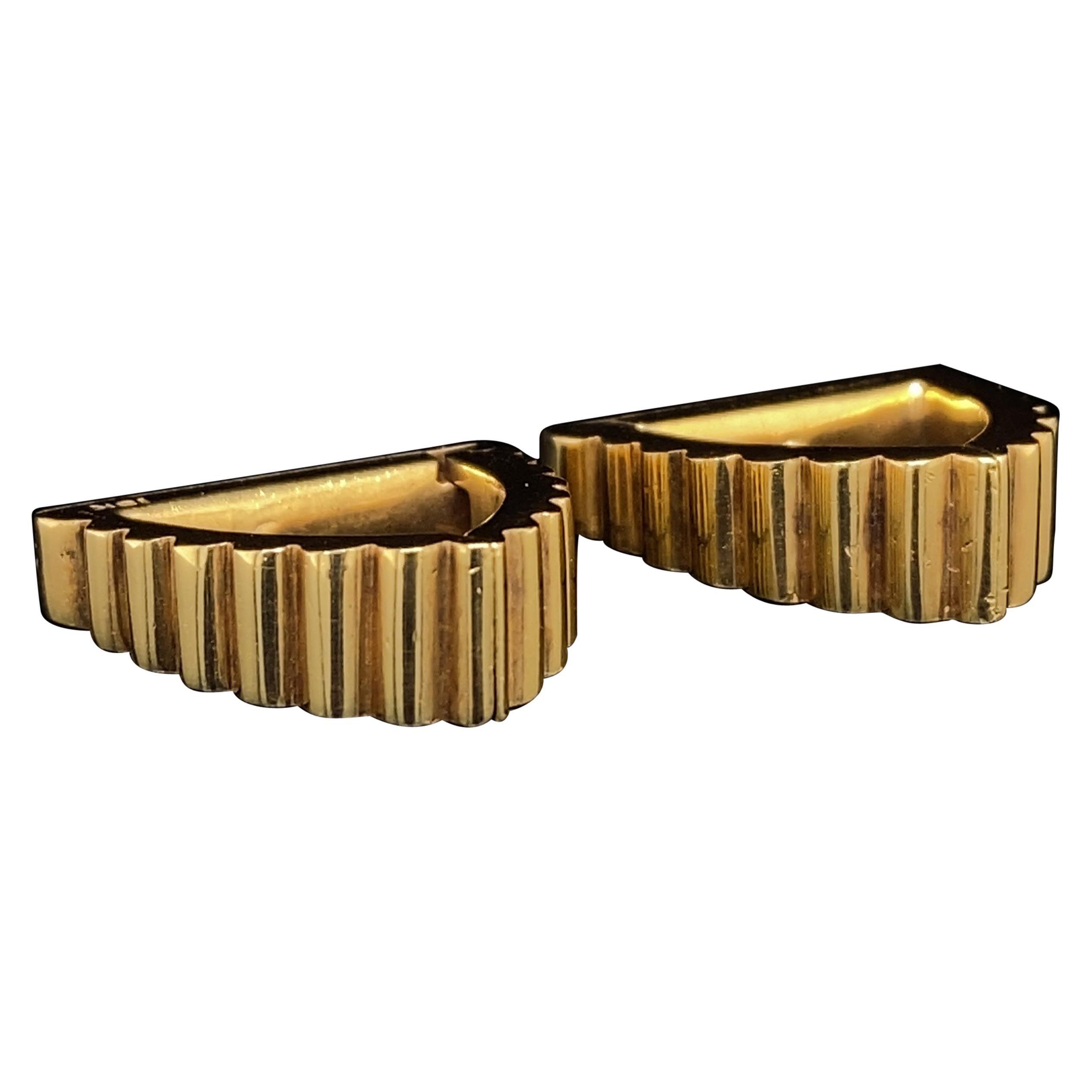 Vintage Cartier Stirrup Cufflinks 18 Karat Yellow Gold, Circa 1950
