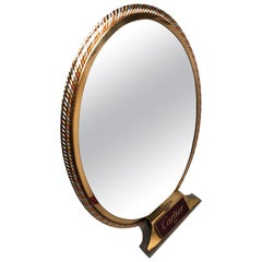 Vintage Cartier Table Mirror Silver Gold and Rose Plated, 1970