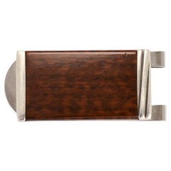 """Vintage Cartier """"Touch Wood"""" Silver Money Clip"""