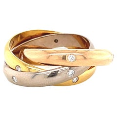 Vintage Cartier Tricolor Diamond Trinity Ring