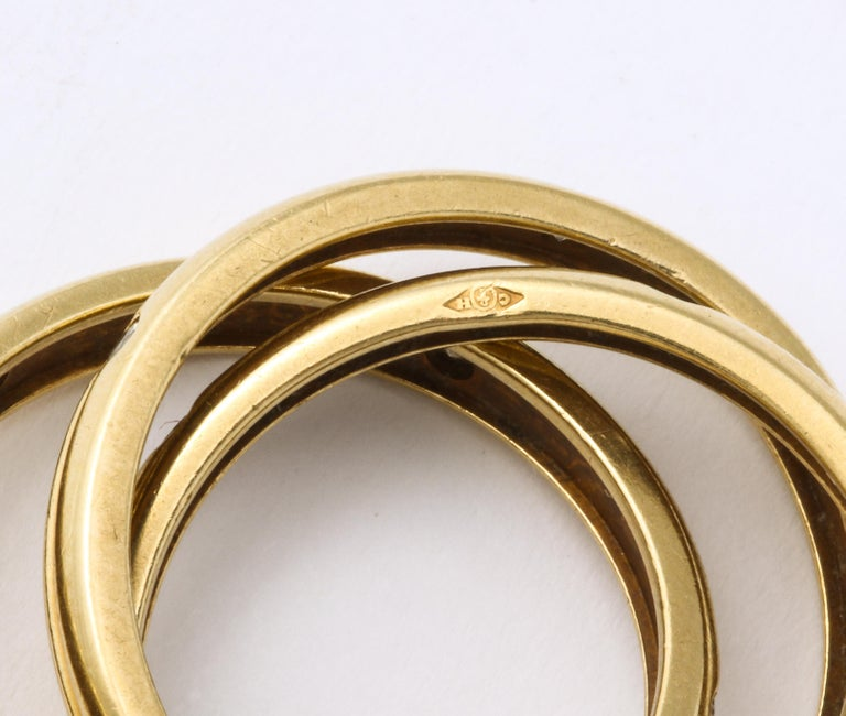 Vintage Cartier Trinity Ring with Diamonds For Sale 4