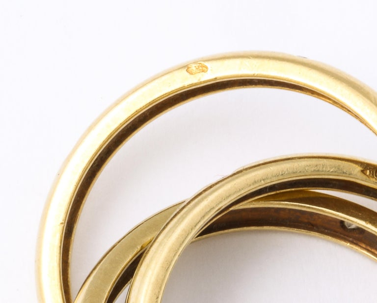 Vintage Cartier Trinity Ring with Diamonds For Sale 3