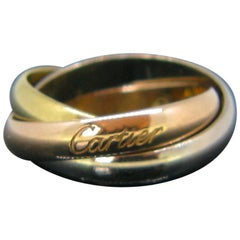Vintage Cartier Trinity Three-Color Gold Rolling Ring