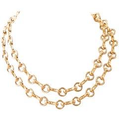 Vintage Cartier Two-Tone 18 Karat Gold Necklace
