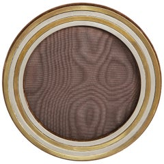 Vintage Cartier Two-Tone Round Picture Frame