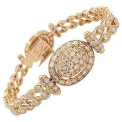 Vintage Cartier Yellow Gold and Diamond Bracelet
