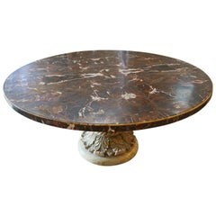 Vintage Carved Solid Marble Table