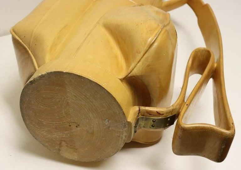 Vintage Carved Wood Decorative Golf Bag For Sale 6