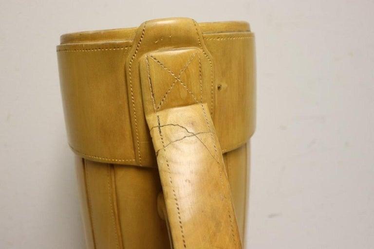 Vintage Carved Wood Decorative Golf Bag For Sale 5