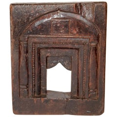 Vintage Carved Wooden Picture Frame, Mid-20th Century, India