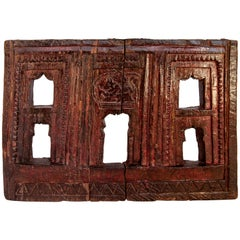 Vintage Carved Wooden Votive or Picture Frame, Mid-20th Century, India