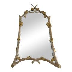 Vintage Carvers Guild Faux Bois Mirror With Ivy Motif
