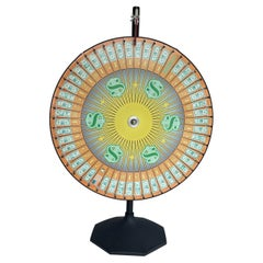 Vintage Casino Gaming Wheel of Fortune on Stand, Casino Supply Co.