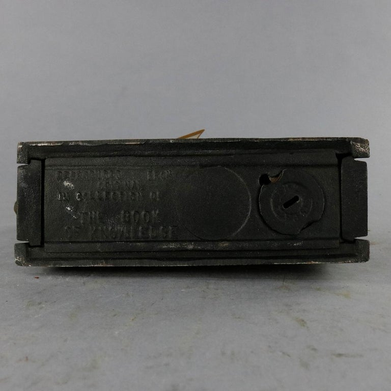 Vintage Cast Iron Book of Knowledge Mechanical Bank, Punch & Judy, 20th Century For Sale 3