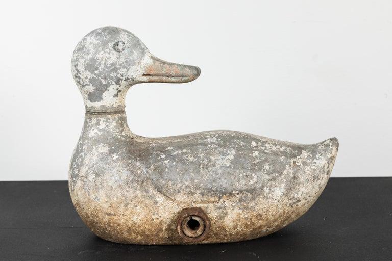 Vintage Cast Iron Duck Sprinkler White Paint 4