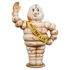 Vintage Cast Iron Michelin Man Doorstop/Coin Bank, c.1970