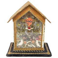 Vintage Catholic Reliquary Box Monastery Work with Relics of Different Saints