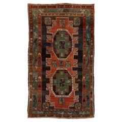 Vintage Caucasıan Kazak Rug