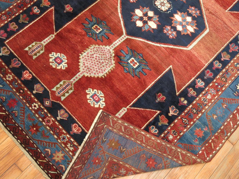 Vintage Caucasian Kazak Rug In Excellent Condition For Sale In New York, NY