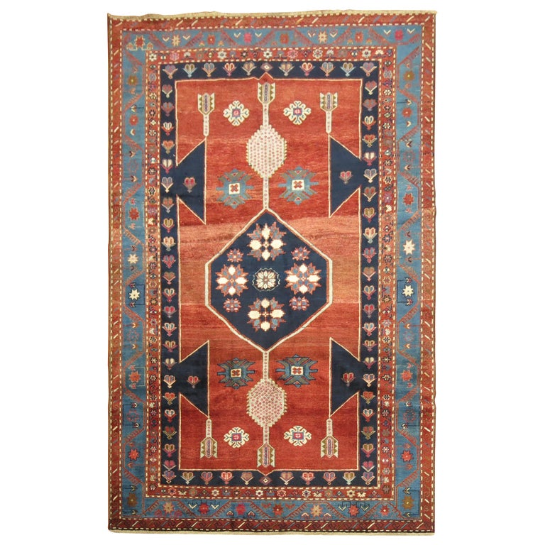 Vintage Caucasian Kazak Rug For Sale