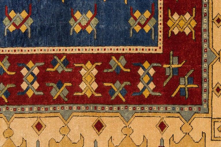 Hand-Knotted Vintage Caucasian Rare Production Hashkazak For Sale